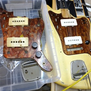 Side by side comparisons of two Mory guards. Notice the flame browns in the one on the right versus the pearl purple tones in the one on the left.