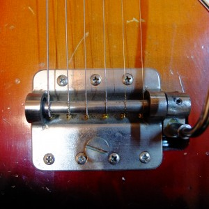 1965 Mory Jazzmaster tremolo tailpiece. Original Door Hinge flavour.