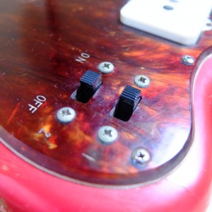 Slide selector switches on a 1966 Mory Jazzmaster